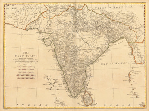 1779 The East Indies... British Dominions of the Continent of India