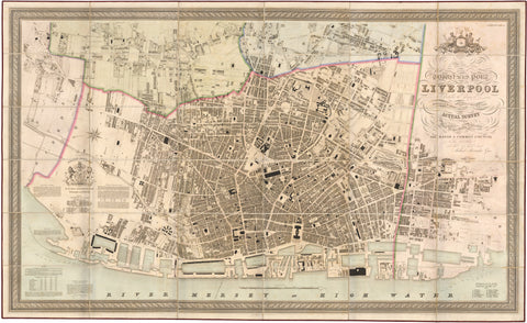 1836 Trigonometrical Plan of the Town and Port of Liverpool