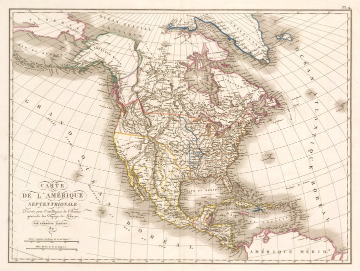Carte de L'Amerique Septentrionale… By: Ambroise Tardieu, 1821