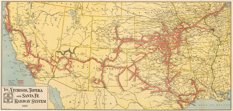 1922 The Atchison, Topeka and Santa Fe Railway System