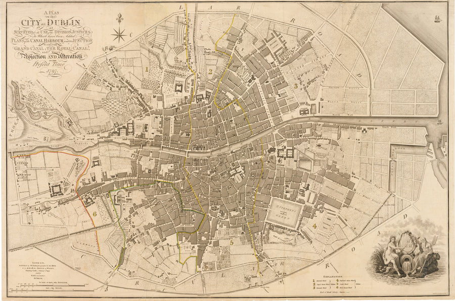 A Plan of the City of Dublin... by: William Faden, 1797