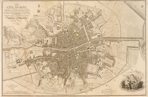 1797 A Plan of the City of Dublin...