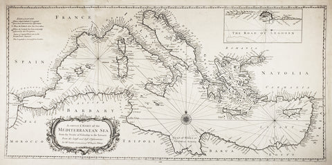 1745 A Correct Chart the Mediterranean Sea, from the Straits of Gibraltar to the Levant...