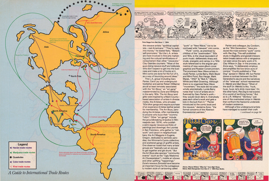The World According to Dope - A World Map by High Times Magazine