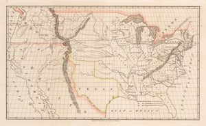 Map of America Showing Proposed Transcontinental Railroad by: Asa Whitney, 1845