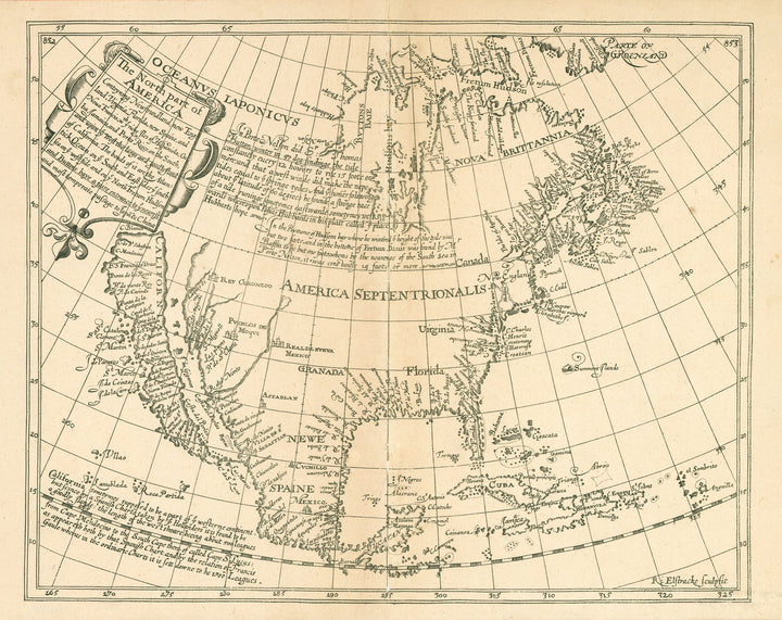 19th Century Facsimile : The North Part of America... by Briggs, 1625