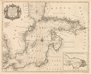 A Correct Chart of the Baltick or East Sea from ye Sound to Petersburg From the latest and best Observations... By: Thoyras / Tindal, 1744