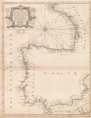 1746 A Correct Chart of the Bay of Biscay...