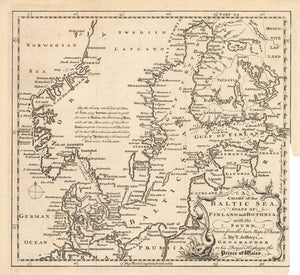 A Chart of the Baltic Sea, Gulfs of Finland and Bothnia, and the Sound, Drawn from the best Maps & Charts. by: Jefferys 1748