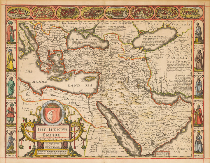 Antique Map of The Turkish Empire by John Speed, 1626