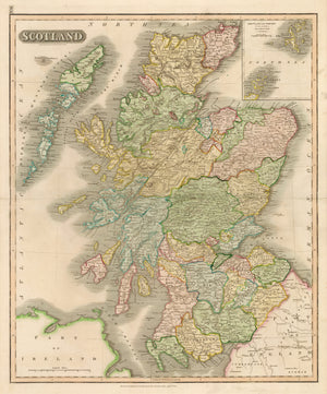 Antique Map of Scotland  by: John Thomson, 1815