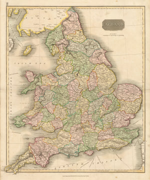 Antique Map of England by: John Thomson, 1814