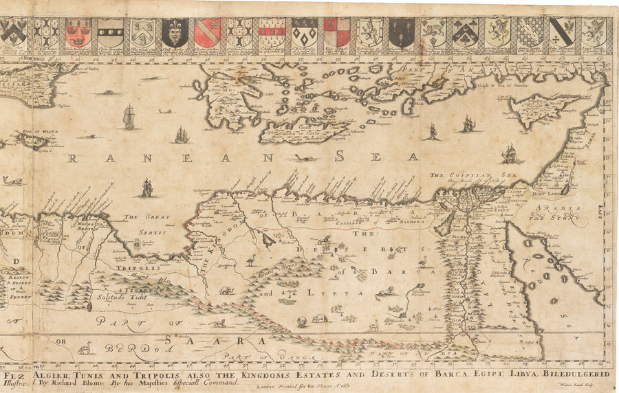 A General Mapp of the Coast of Barbarie by: Richard Blome, 1667