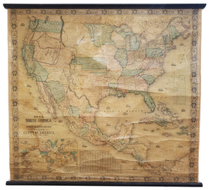 1854 New Map of that Portion of North America exhibiting the United States and Territories,...