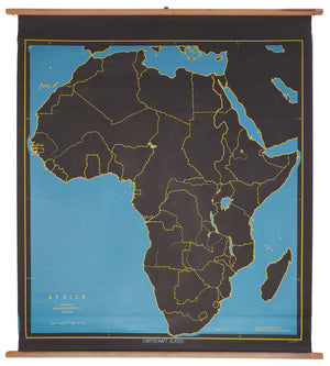 Africa [Cartocraft Slated Wall Map] by: Denoyer-Geppert, 1950 circa
