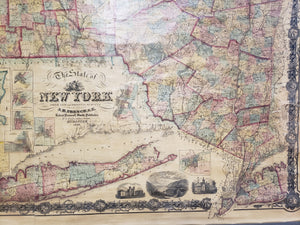 1860 The State of New York from New and Original Surveys...