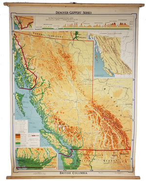 1952 British Columbia [Topographical Wall Map]