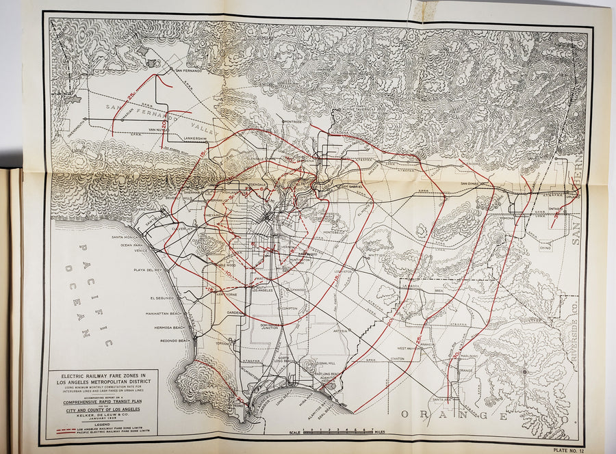 1925 Rapid Transit Plan for Los Angeles