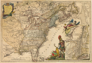 1777 Carte De L'Amerique Septle