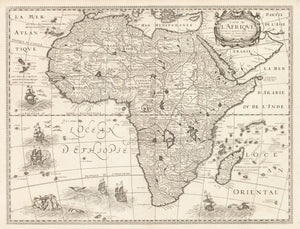 Antique Map | Carte de L'Afrique by: Petrus Bertius, 1640