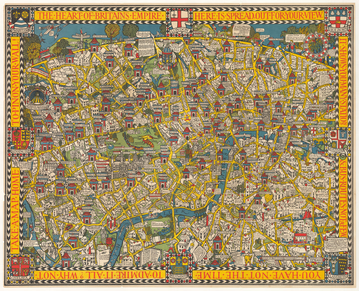 The Wonderground Map of London Town by: Leslie MacDonald Gill, 1924