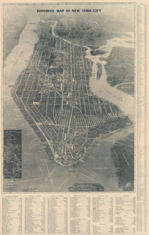 1932 Supervue Map of New York City