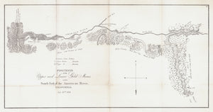 Map of the California Gold Mines along the American River by Sherman, 1848