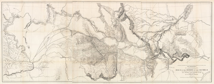 Map of Milk R. to the Crossing of the Columbia R. by: Isaac Stevens 1853-55