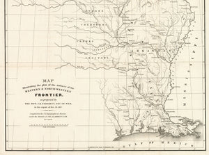 Map illustrating the plan of the defences of the Western & North-Western Frontier, as proposed by The Hon. J.R. Poinsett, Sec. of War in his report of Dec. 30, 1837.