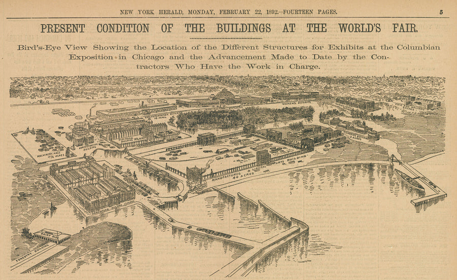 1892 Present Condition of the Buildings at the World's Fair