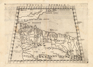 Antique Map of Morocco: Tabula Aphricae I by: Girolamo Ruscelli, 1574