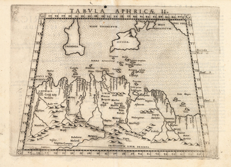 Antique Map of Northern Africa : Tabula Africae II by: Girolamo Ruscelli, 1574