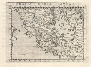 Antique Map of Greece: Graetia Nuova Tavola by: Ruscelli / Ptolemy, 1574