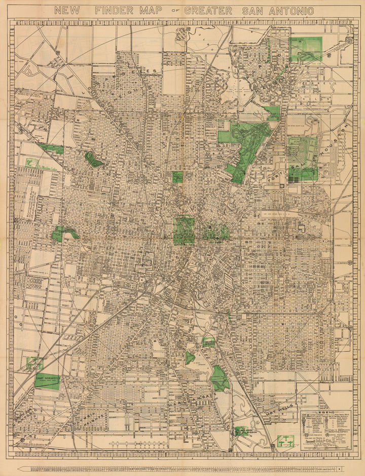 New Finder Map of Greater San Antonio, 1935