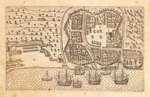 1599 Bird's Eye View of Bantam, Java