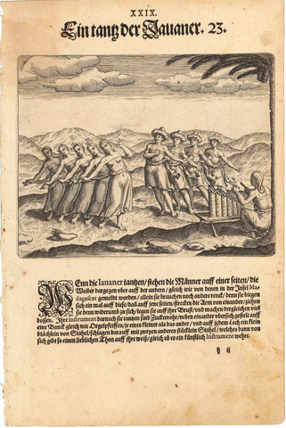 1599 Print of Native Javanese Ceremonial Dance