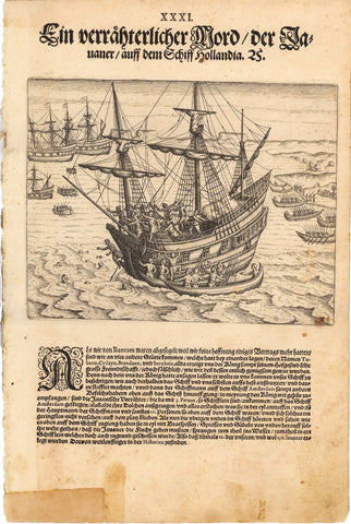 1599 Native Javanese Attack Dutch Ship