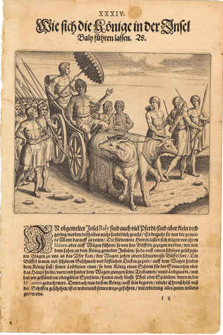 1599 Print of a Native Balinese Royal Procession