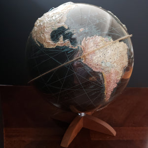 Peerless Globe of Earth - 12 inch by Webber-Costello, 1950