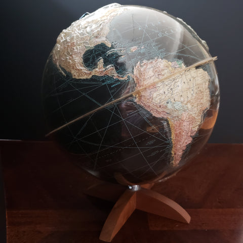 1950 Peerless Globe of Earth - 12 inch