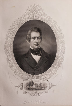 Antique Print of William Seward By: T.W. Hunt 1856
