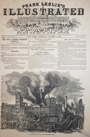 1859 The Great Fire in Chicago