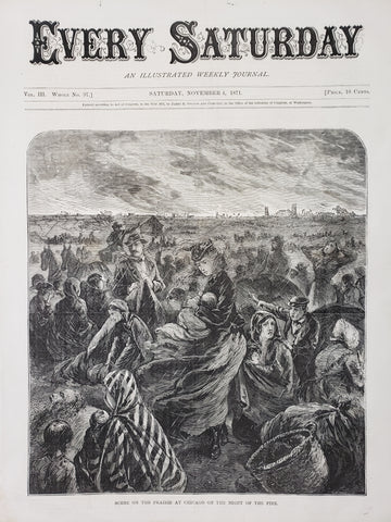 1871 Scene on the Prairie at Chicago on the Night of the Fire