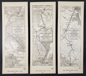Automobile Road from San Francisco and Oakland to Sacramento, 1923