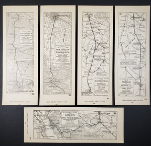 Inland Route from Los Angeles to San Francisco - Automobile Club of Souther California, 1923
