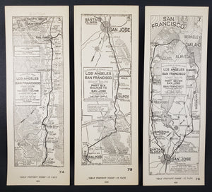 1923 Coast Route from Los Angeles to San Francisco
