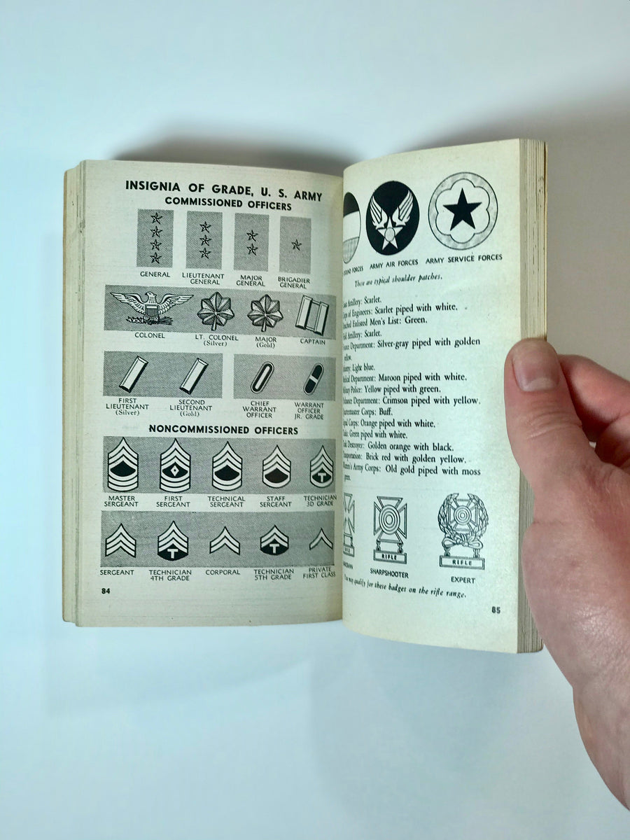 WWII Era booklet describing everyday life and duties of enlisted Army service personnel