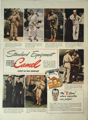 WWII Era Full Page Advertisement for Camel Cigarettes