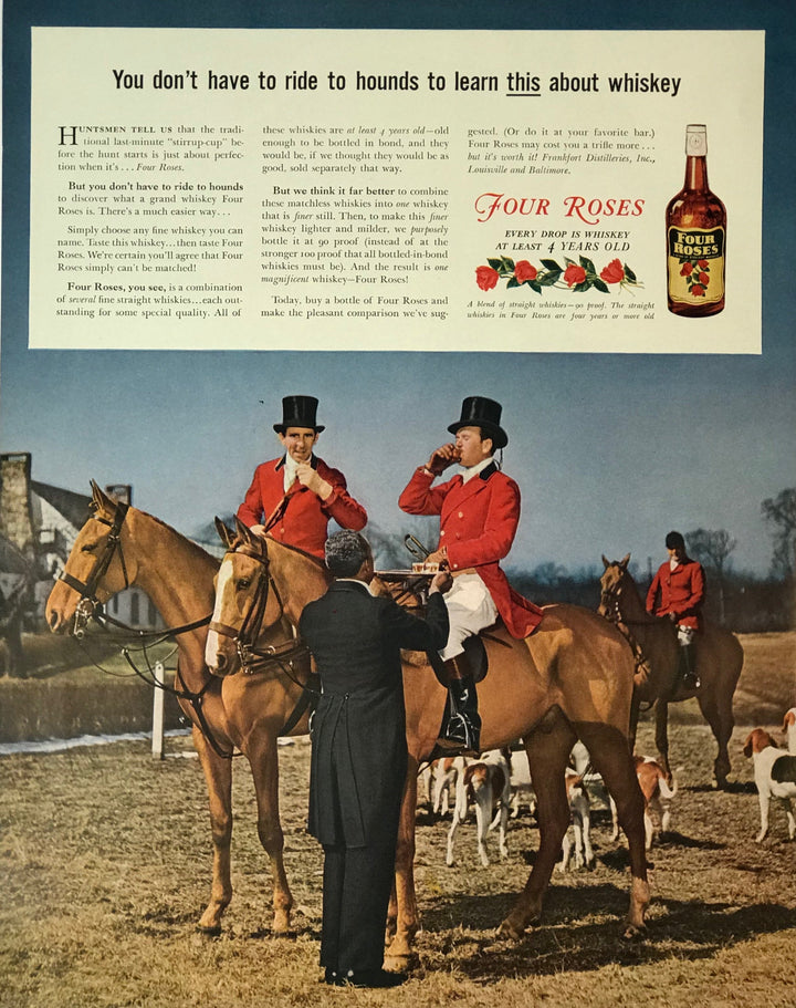 WWII Era Full Page Advertisement for Four Roses Whiskey