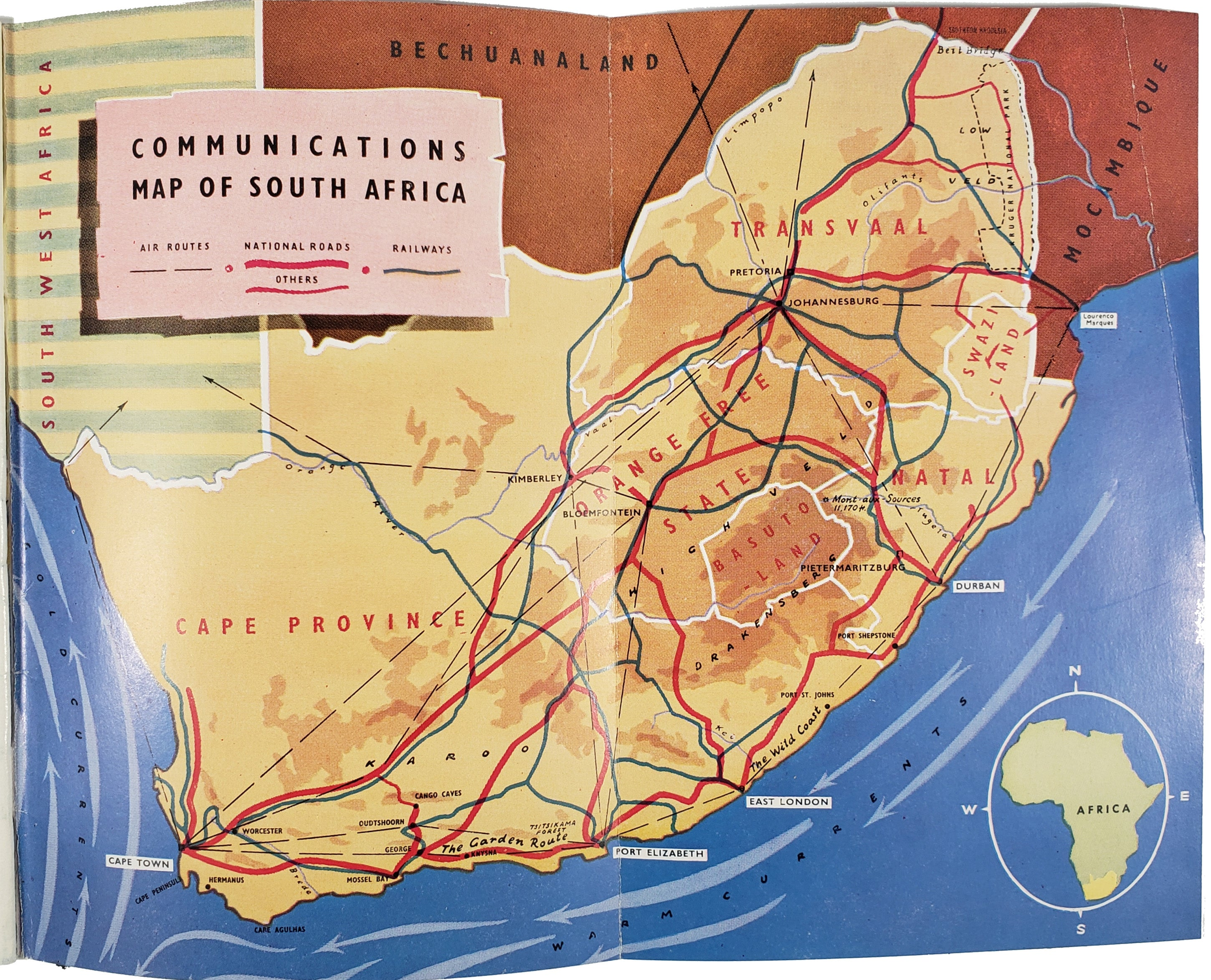 Folleto 'South Africa's Wonderful Climate' (1956).